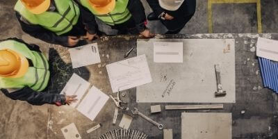 young people construction training